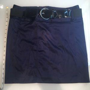 Navy Blue satin Forever 21 pencil work skirt